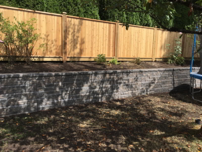 Residential Landscaping - retaining walls, Fencing