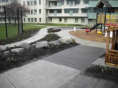 childrens hospital - hardscapes commercial landscaping