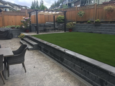 Residential Landscaping - stamped concrete
