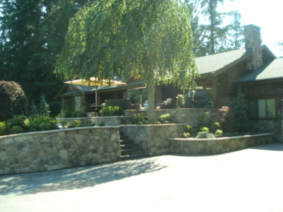 Residential Landscaping - Rock Work