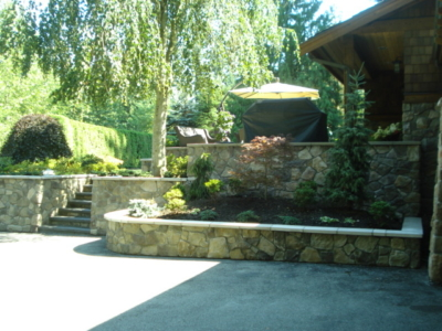Residential Landscaping - Rock Work